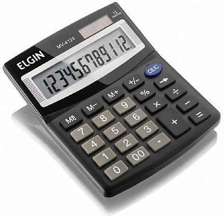 Acessórios - Calculadora de Mesa Elgin MV 4124 - Alimentação Solar e Bateria - 42MV41240000