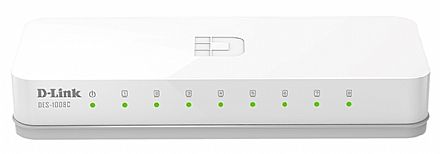 Rede Switch - Switch 8 portas D-Link DES-1008C - 100Mbps