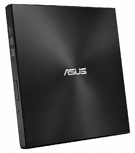 Gravador - Gravador DVD Externo Asus Ultra Slim - Portátil - USB - Preto - SDRW-08U7M-U