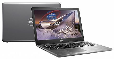"Notebook - Notebook Dell Inspiron i15-5567-RW40C - Tela 15.6"", Intel i7 7500U, 16GB, SSD 480GB, DVD, Video Radeon R7 M445 4GB, Windows 10 - Cinza - Garantia 1 ano - Seminovo"