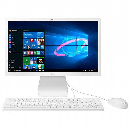 "Computador All in One - Computador All in One LG 22V280 - Tela 21.5"" IPS Full HD, Intel Quad Core N4100, 8GB, HD 1TB, Windows 10 - 22V280-L.BY31P1"