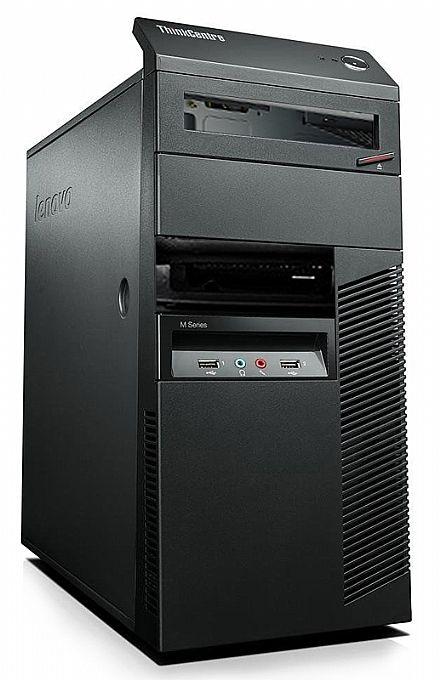 Gabinete - Gabinete Lenovo ThinkCentre M Series - USB 3.0 - Preto - Open Box (Exclusivo p/ produtos Lenovo)