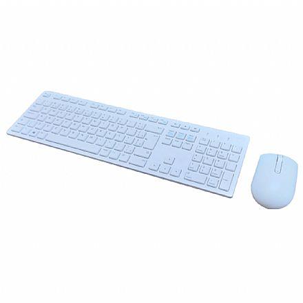 Kit Teclado e Mouse - Kit Teclado e Mouse sem Fio Dell KM636 Wireless - ABNT2 - Branco - KM636-WH-BPOR