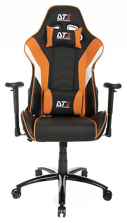 Cadeiras - Cadeira Gamer DT3 Sports Elise Orange - Encosto Reclinável de 180º - Construção em Aço - 10636-6