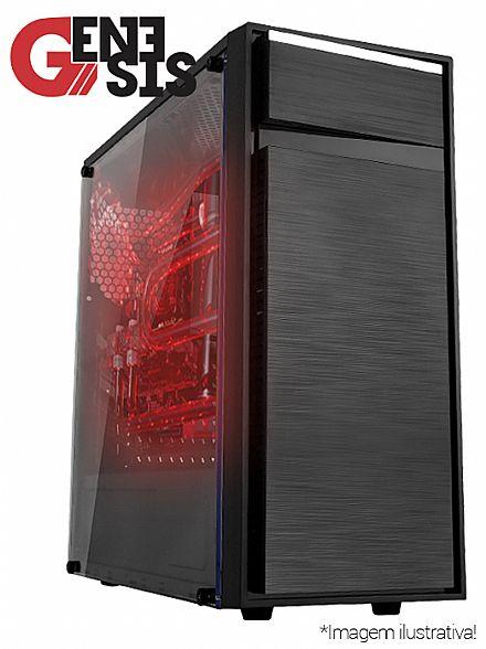 Computador Gamer - PC Gamer Bits Genesis - Intel® Core i3 8100, 8GB, HD 500GB, Geforce GTX 1050 Ti 4GB