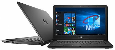 "Notebook - Notebook Dell Inspiron i15-3567-A30P - Tela 15.6"", Intel i5 7200U, 16GB, SSD 480GB, Intel HD Graphics 620, Windows 10 - Preto"
