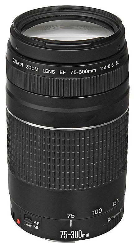 Câmera Digital - Lente EF 75-300mm para Canon - F/4-5.6 III USM