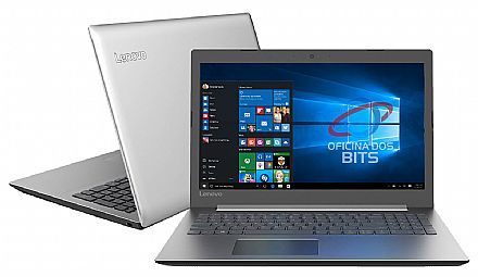"Notebook - Notebook Lenovo Ideapad 330 - Tela 15.6"", Intel i3 7020U, 8GB, HD 1TB, Intel UHD Graphics 620, Windows 10 - 81FD0003BR"