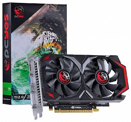 Placa de Vídeo - GeForce GTX 550Ti 1GB GDDR5 128bits - PCYes PV55TX1GD5128DF