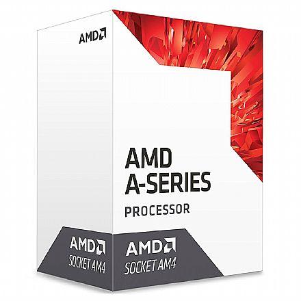 Processador AMD - AMD A10 9700E Quad Core - 3.0GHz (3.5GHz Turbo) - Cache 2MB - AM4 - TDP 35W - AD9700AHABBOX