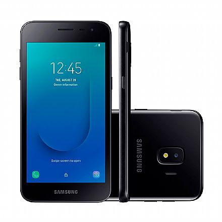 "Smartphone - Smartphone Samsung Galaxy J2 Core - Tela 5"" qHD, 16GB, Dual Chip 4G, Câmera 8MP - Preto - SM-J260M - Open Box"