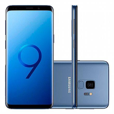 """Smartphone - Smartphone Samsung Galaxy S9 - Tela 5.8"""" Edge sAMOLED, Octa Core, 128GB, Dual Chip 4G, Câmera 12MP com Super Slow Motion, Leitor de Digital - Azul SM-G9600/DS"""