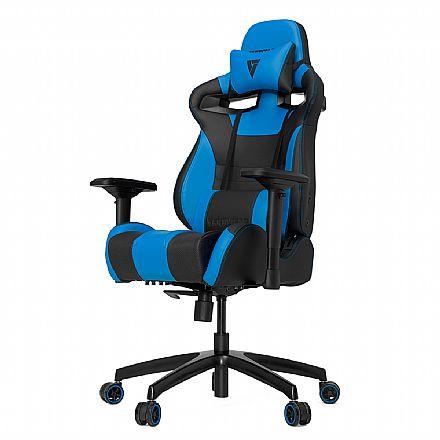 Cadeiras - Cadeira Gamer Vertagear Racing Series S-Line VG-SL4000_BL - Encosto Reclinável de 140º - Construção em Aço - Preta e Azul