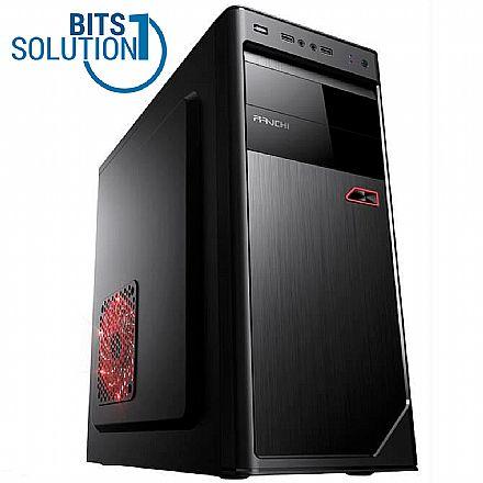 Computador - Computador Bits Solution One - Intel Pentium Dual Core, 4GB, SSD 120GB, FreeDos - Garantia 1 Ano