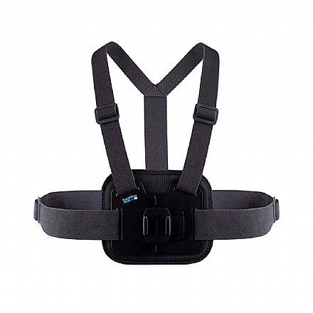 Câmera Digital - Suporte Peitoral Chesty para GoPro AGCHM-001 - Acolchoado - Preto