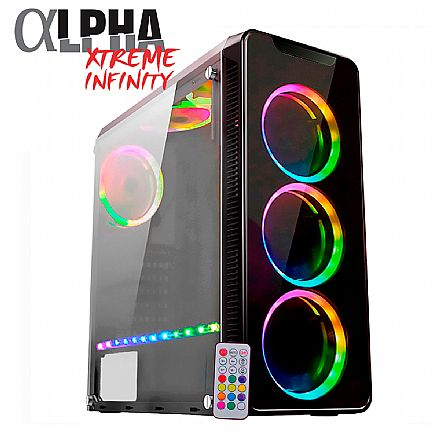 Computador Gamer - PC Gamer Bits Alpha Xtreme Infinity - Intel® Core i5 9400F, 16GB, HD 1TB, Geforce RTX 2070 8GB