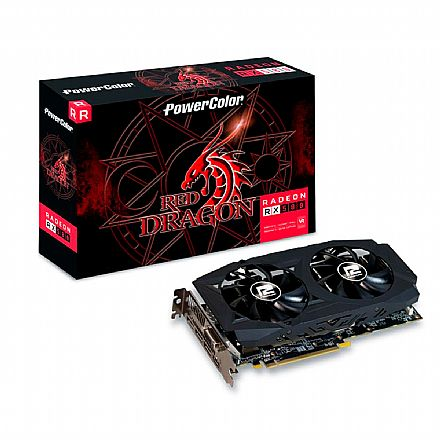 Placa de Vídeo - AMD Radeon RX 580 8GB GDDR5 256bits - AXRX - PowerColor 8GBD5-3DHDV2/OC