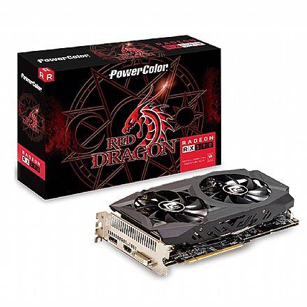 Placa de Vídeo - AMD Radeon RX 590 8GB GDDR5 256bits - AXRX - PowerColor 8GBD5-DHD