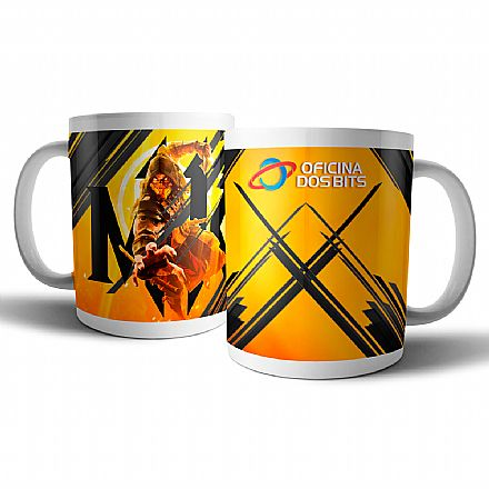 Acessórios - Caneca de porcelana - Mortal Kombat - Oficina dos Bits