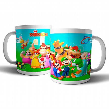 Acessórios - Caneca de porcelana - Super Mario - Oficina dos Bits
