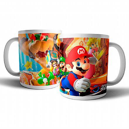 Acessórios - Caneca de porcelana - Mario Party - Oficina dos Bits