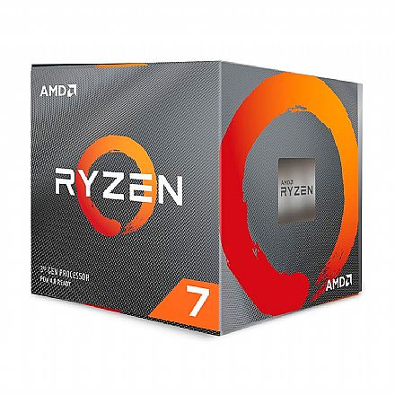 Processador AMD - AMD Ryzen 7 3700X Octa Core - 16 Threads - 3.6GHz (Turbo 4.4GHz) - Cache 32MB - AM4 - TDP 65W - 100-100000071BOX - sem gráfico integrado