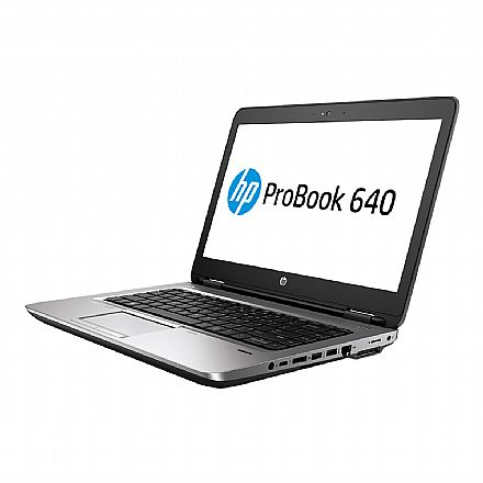 """Notebook - Notebook HP 640 G2 - Tela 14"""" HD, Intel i5 6300U, 16GB, SSD 240GB, Intel HD Graphics 520, Windows 10 Professional"""