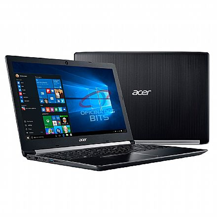 "Notebook - Notebook Acer Aspire A515-51-37LG - Tela 15.6"", Intel i3 8130U, 4GB, HD 1TB - Windows 10 Professional"