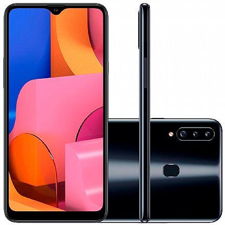 "Smartphone - Smartphone Samsung Galaxy A20s - Tela 6.5"" HD+, 32GB, Dual Chip 4G, Câmera Tripla 13MP - Preto - A207M/32DL"