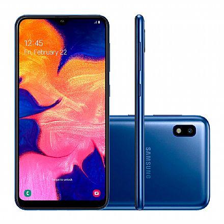 "Smartphone - Smartphone Samsung Galaxy A10 - Tela 6.2"" HD+, 32GB, Dual Chip 4G, Câmera 13MP - Azul - SM-A105M/32DS - Open Box"