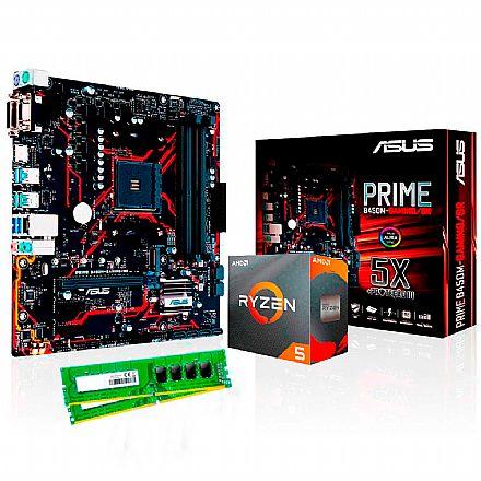 Kit Upgrade - Kit Upgrade AMD Ryzen™ 5 3500X + Asus PRIME B450M GAMING/BR + Memória 8GB DDR4