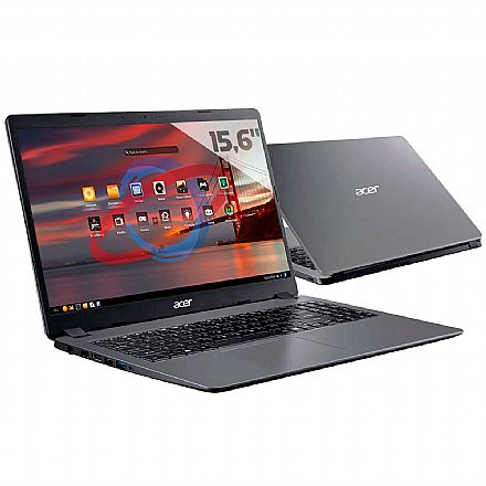"Notebook - Notebook Acer Aspire A315-54K-33AU - Tela 15.6"", Intel i3 6006U, 8GB, HD 1TB, Endless OS"