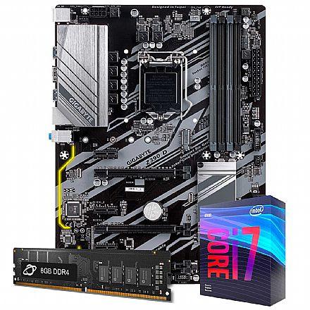 Kit Upgrade - Kit Upgrade Intel® Core™ i7 9700KF + Gigabyte Z390 D + Memória 8GB DDR4