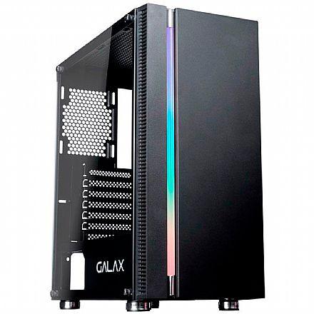 Gabinete - Gabinete Gamer Galax Quasar GX600 - LED RGB - Janela Lateral de Vidro - Mid Tower - Preto