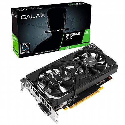 Placa de Vídeo - GeForce GTX 1650 4GB GDDR6 128bits - EX - 1-Click OC Edition - Galax 65SQL8DS66E6