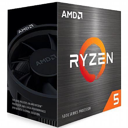 Processador AMD - AMD Ryzen 5 5600X Hexa Core - 12 Threads - 3.7GHz (Turbo 4.6GHz) - Cache 35MB - AM4 - 100-100000065BOX