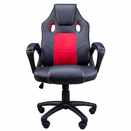 Cadeiras - Cadeira Gamer Kids Akasa - Preta e Vermelha - A-GCH-03RD