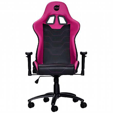 Cadeiras - Cadeira Gamer Dazz Serie M - Encosto Reclinável - Rosa e Preta - 625170