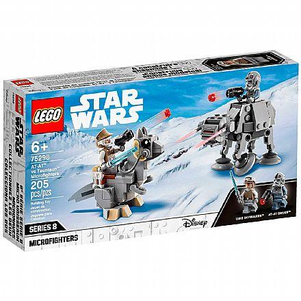 Brinquedo - LEGO Star Wars - AT-AT™ contra Microfighters Tauntaun™ - 75298
