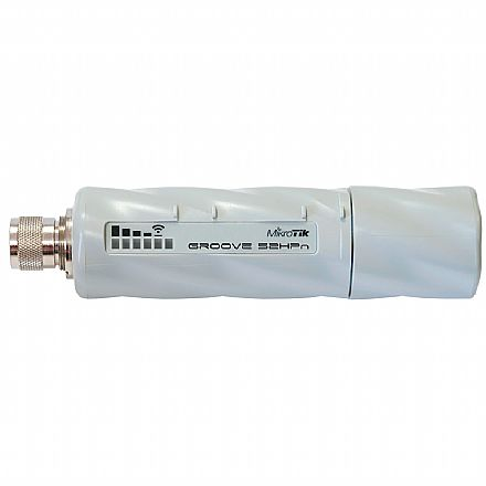 Roteador, Repetidor & Acess Point - Roteador Mikrotik - RB Groove A-52HPn - Wi-Fi 2.4 GHz e 5 GHz - AP Backbone CPE - Antena 6 dBi