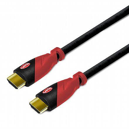 Cabo & Adaptador - Cabo HDMI 2.0 Conector Gold 4K - 10 metros - Comtac 9364