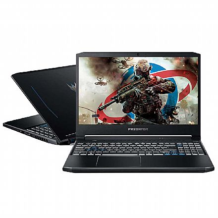 "Notebook - Notebook Acer Gaming Predator Helios 300 - Tela 15.6"" Full HD, Intel i7 10750H, RAM 64GB, SSD 512GB + HD 2TB, GeForce RTX 2070, Windows 10 - PH315-53-75NL"