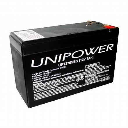 NoBreak - Bateria Selada para Nobreak e Sistemas de Monitoramento e Segurança - 12V / 7Ah - Unipower UP1270SEG