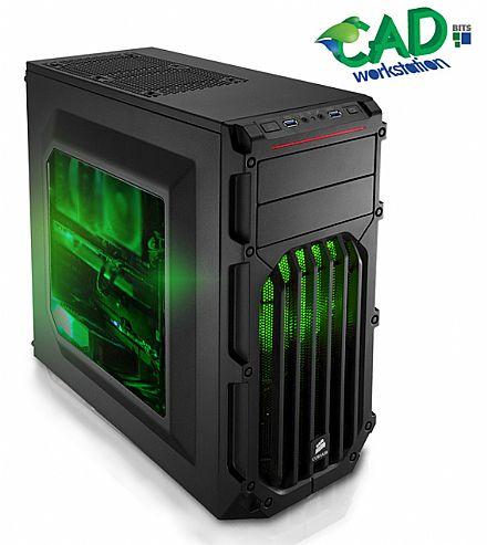 Computador Workstation - Computador WorkStation CAD Bits - Intel® Xeon E1220 V3, 8GB, HD 1TB