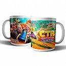 Caneca de porcelana - Crash Team Racing - Oficina dos Bits