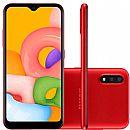 """Smartphone Samsung Galaxy A01 - Tela 5.7"""", 32GB, Dual Chip, Câmera Dupla 13MP - Vermelho - SM-A015MZREZTO"""