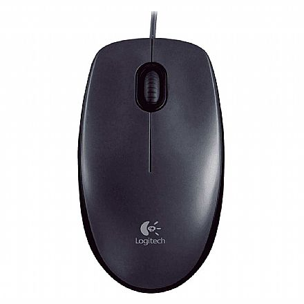 Mouse Logitech M100 - USB - 1000dpi - Preto - 910-003241