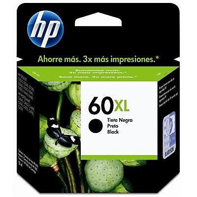 Cartucho HP 60XL Preto - CC641WB - Para HP Deskjet D1660 / D2530 / D2545 / D2560 / D2660 / F4280 / F4480 / Photosmart C4680 / C4780