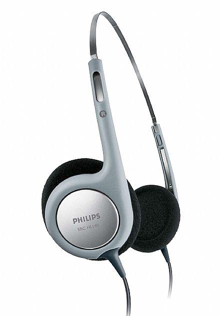 Fone de Ouvido Philips SBCHL140/10 - Conector 3.5mm - Ultra leve