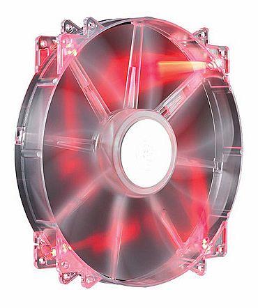 Cooler 200x200mm Cooler Master MegaFlow - 700 RPM - com LED Vermelho - R4-LUS-07AR-GP